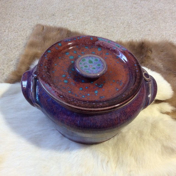 Vintage Other - Artisan Glazed Stew Pot Hand Crafted